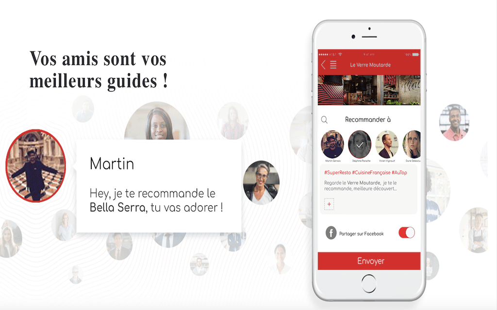 Week-end gastronomique : les start-up qui te régalent Foodz interface utilisateur