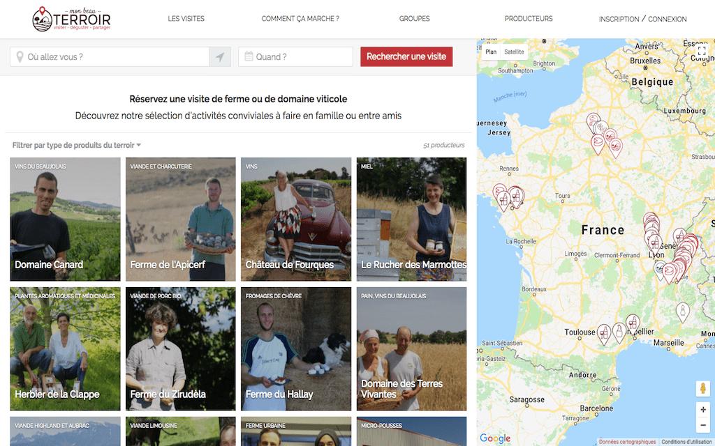 Week-end gastronomique : les start-up qui te régalent Mon Beau Terroir page des expériences dans toute la France